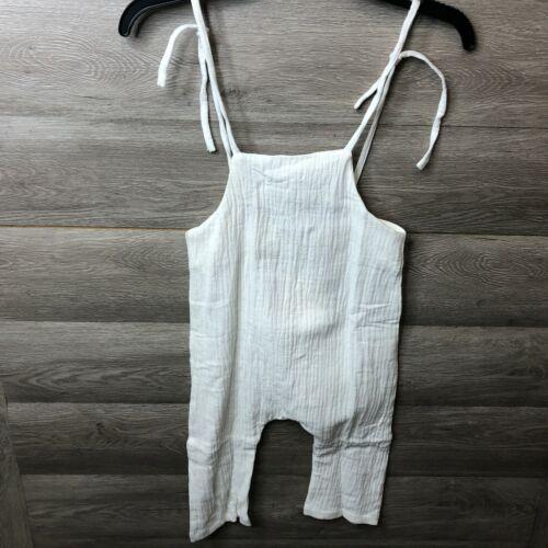 Yoli & Otis Girls Size 3Y White Loose Fit Henry Jumpsuit NEW