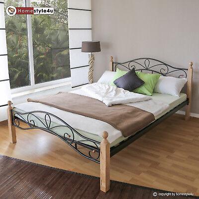 Metallbett 160 x 200 Bettgestell Doppelbett Bettrahmen inkl. Lattenrost 920