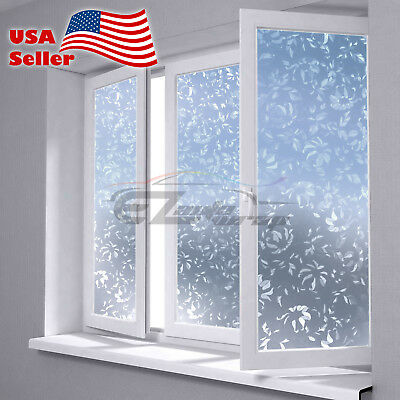 """4""""x8"""" Sample Frosted Film Glass Home Bathroom Window Security Privacy #4001"""