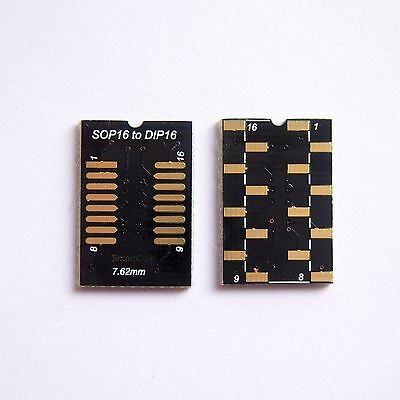20 Pcs So Sop Soic16 To Dip16 Adapter Pcb Board Converter Double Side Gold B76