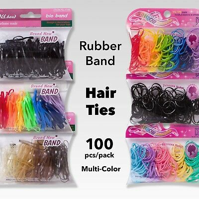 The Best Premium Rubber Hair Ties - 100 of Polyurethane Bands per Pack