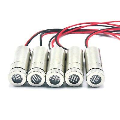 5pcs 405nm 5mw Violet-blue Line Light Focusable Laser Diode Module 3v5v 12x35mm