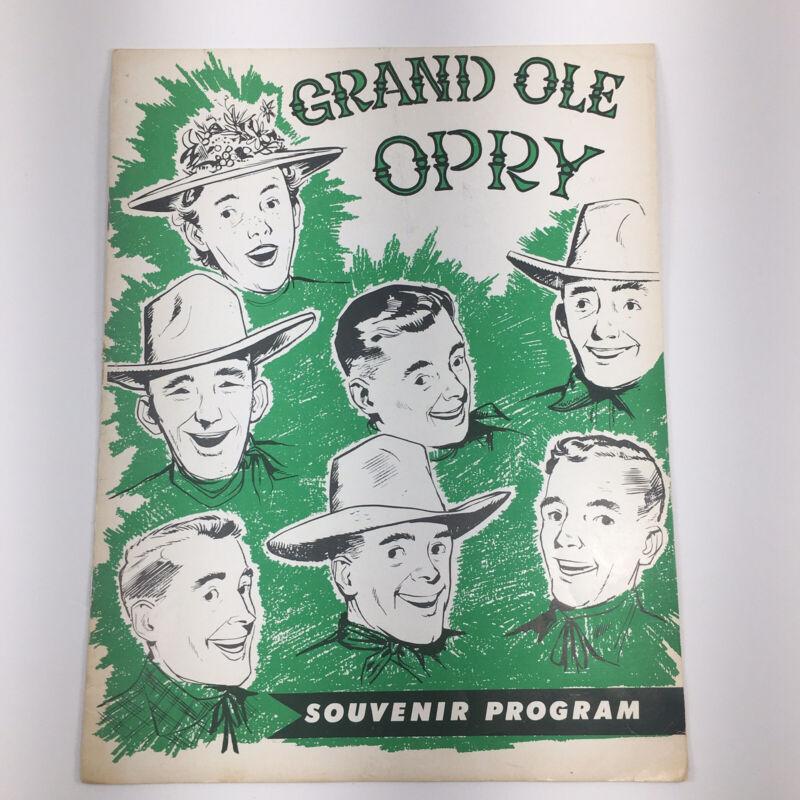 Vintage Grand Ole Opry Souvenir Program 1950