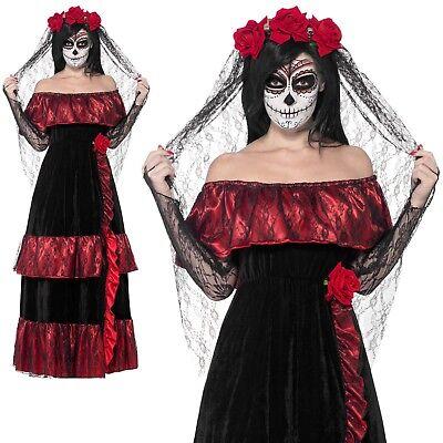 Tag der Toten Corpse Bride Kostüm Skelett Halloween - Damen Corpse Bride Halloween Kostüm
