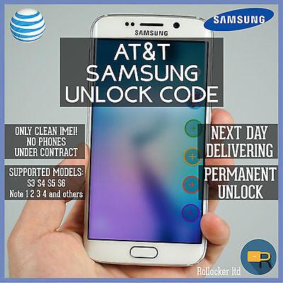 AT&T SAMSUNG FAST UNLOCK CODE SERVICE S2 S3 S4 S5 S6 Note 1-4 Galaxy Mini Rugby segunda mano  Embacar hacia Argentina