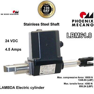 Rose Krieger Electric Linear Actuator Lambda Lbm61.8 Custom S.s. Clevis 24vdc