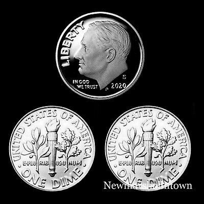 2020 P+D+S Roosevelt Dime Mint Proof Set ~ Proof Coin and PD from Bank Rolls Mint Set Roosevelt Dime