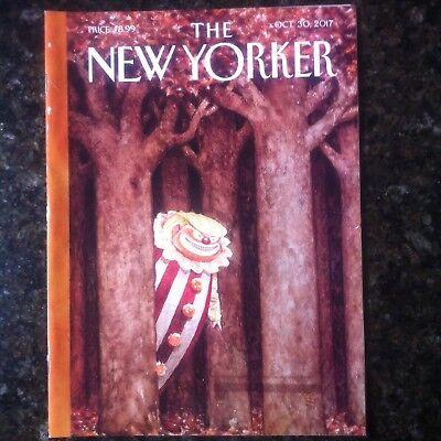 The New Yorker Magazine Donald Trump IQTest October 30 2017  Halloween Clown