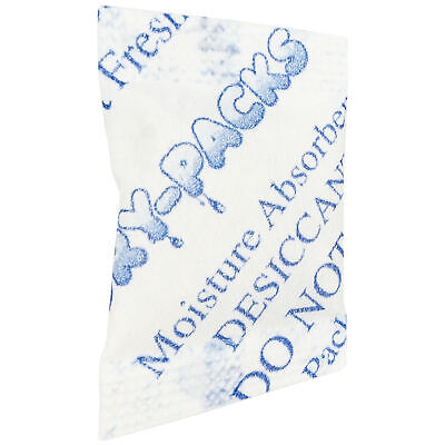Desiccant Packets Silica Gel Cotton Humidity Absorbs Moisture Dry 12 Gram 100pk