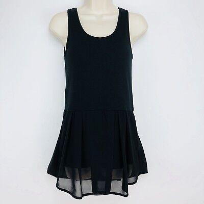 Sense of Place Womens Tank Top Dress Sz Free Black