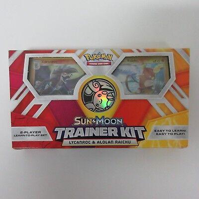 Pokemon TCG Sun & Moon Trainer Kit Lycanroc & Alolan Raichu NEW (Pokemon Kit)