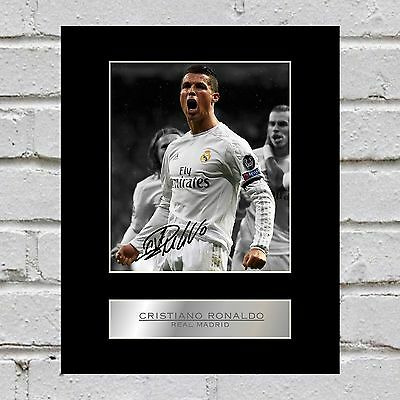 Cristiano Ronaldo Signed Mounted Photo Display Real Madrid