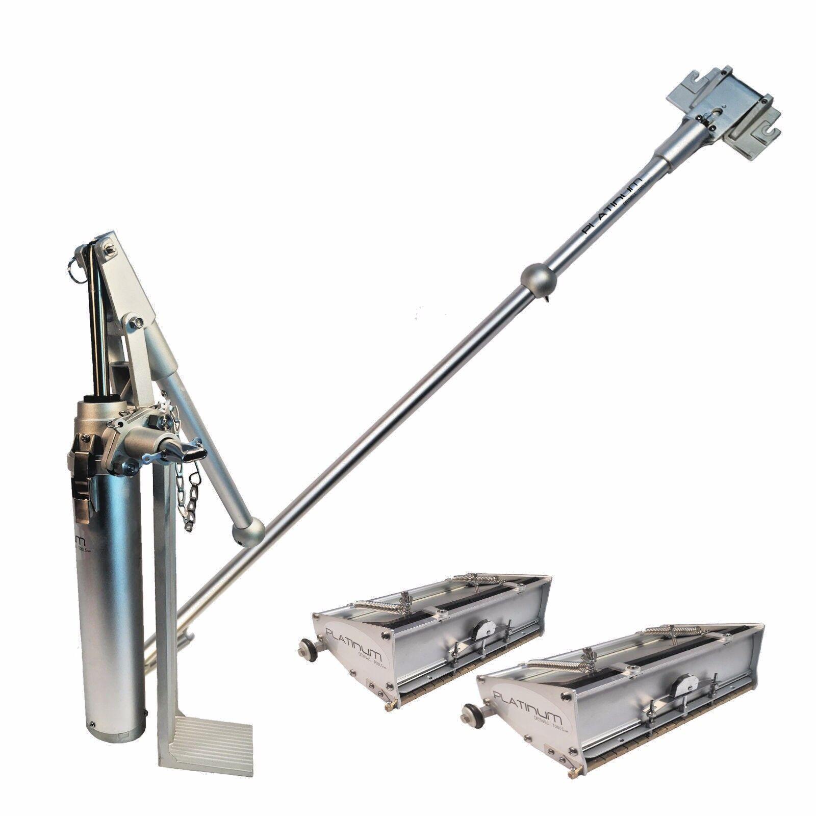 Platinum Drywall Tools Flat Box Set with 10 & 12 inch Boxes, Handle, Pump