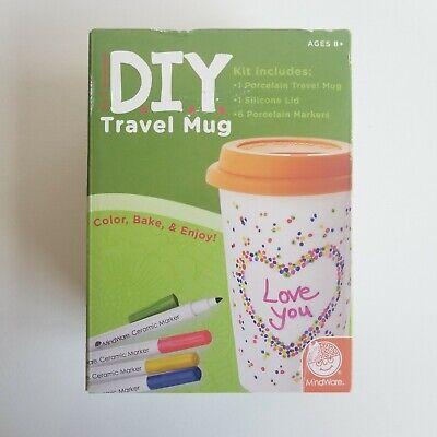 Travel Mug Cup Tumbler Mother's Day Gift 13 oz Porcelain DIY Craft - Diy Travel Mug