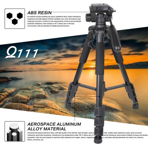 Q111 Professional Heavy Duty Aluminium Tripod with pan Ball Head for DSLR Camera