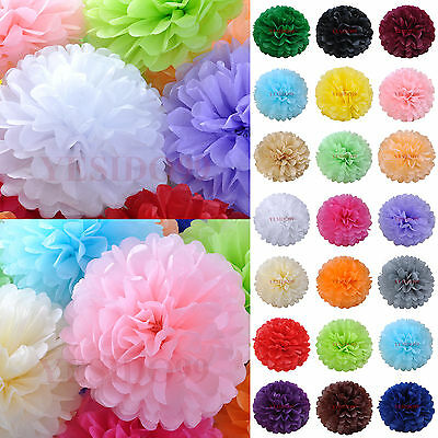 Tissue Paper Pom Poms Diy (10pcs Tissue Paper Pom Poms Flower Ball Wedding Party Art DIY Craft)