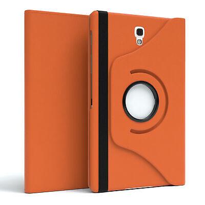 Für Samsung Galaxy Tab S 8.4 Schutz Hülle Tablet Tasche Etui 360° Grad Orange ()