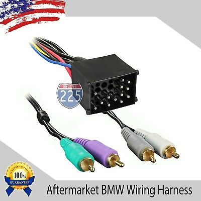 Car Stereo Wiring Harness AMP Aftermarket Radio 1987-2005 BMW 3 & 7 Series Z3 -