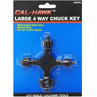 Cal-hawk - 4 Way Drill Chuck Key For 38 12 34 1 Chucks New