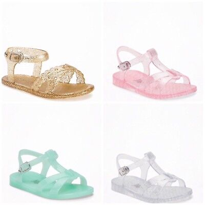 New Old Navy Toddler Girls Jelly T Strap Sandals Shoes Size  5 - 6 - 7 - 9 - 11 - Toddler T Strap Shoes
