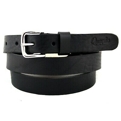 Cintura Donna vera Pelle Nera Cinta Uomo in Cuoio Sportiva Casual di da 2,5 cm