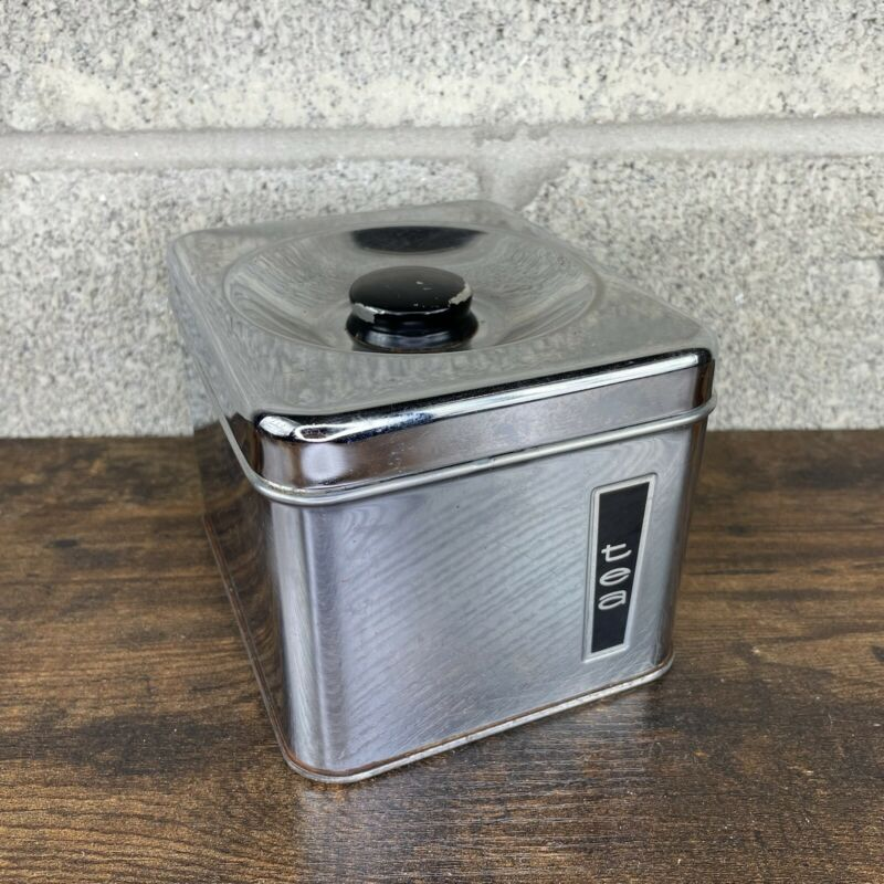 Lincoln BeautyWare Metal Tea Canister Kitchen Ware Container Vintage MCM