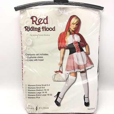 Living Fiction Sexy Little Red Riding Hood Halloween Cosplay Costume Plus Size