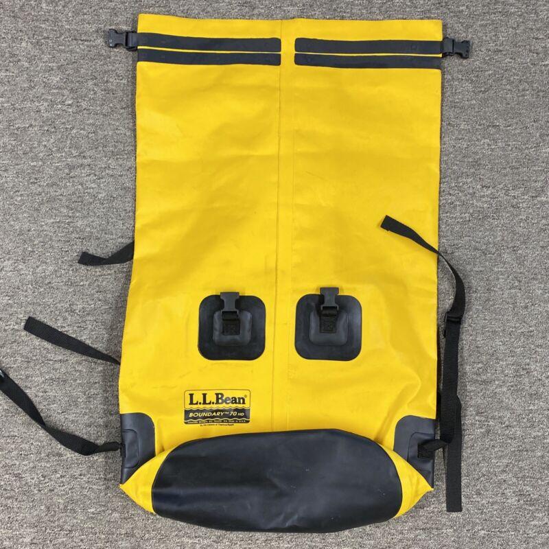 "L.L. Bean Boundary 70 HD Waterproof Bag 36"" X 22"" Yellow EMS"