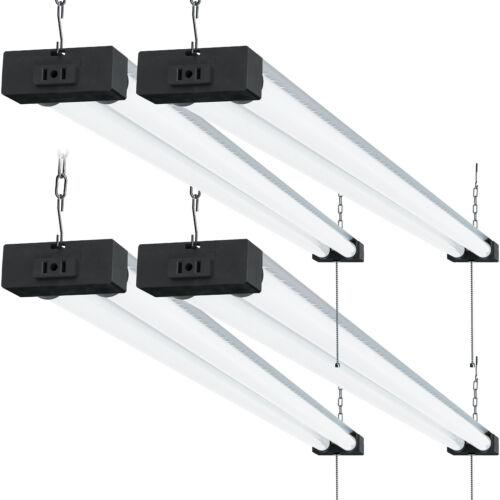 Sunco 4 Pack Industrial LED Shop Light Frosted 40W 6000K 4000lm Plug-in Garage
