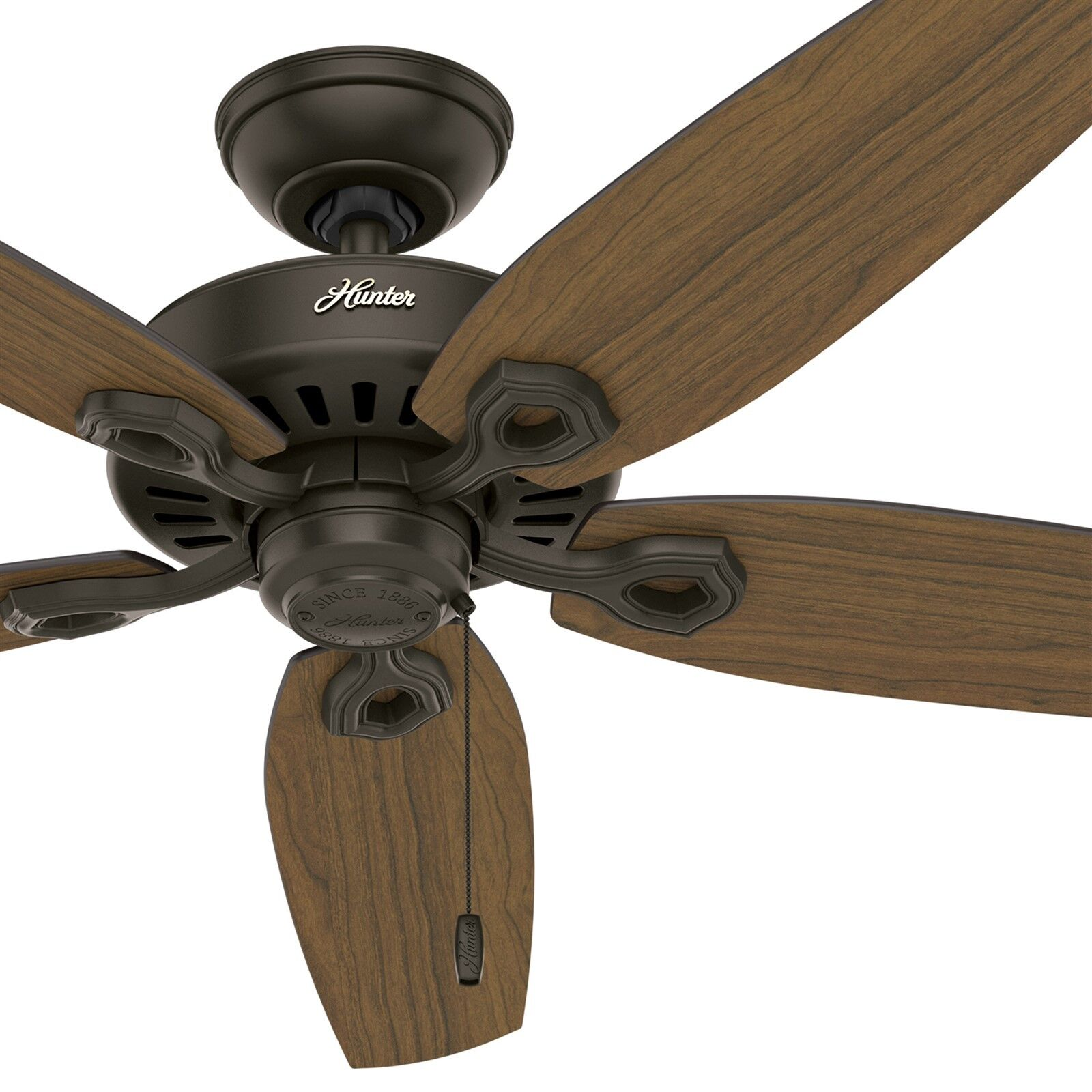 Hunter Fan 52 In Outdoor New Bronze Ceiling Fan With 5 Stained Oak Fan Blades Ebay