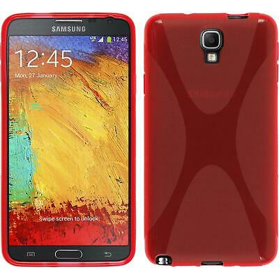 Silikon Hülle für Samsung Galaxy Note 3 Neo rot X-Style Cover