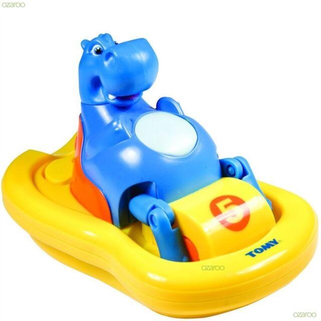 Tomy Aqua Fun Hippo Pedlo Bath Time Toy, Hums a Fun Tune While Pealing