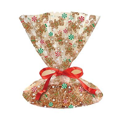 Cookie Tray Bags (Gingerbread Man Cookie Tray Baking Treat Bags Christmas Table Party Gift)