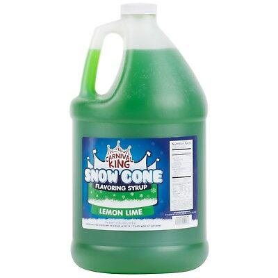1 Gallon - Carnival King - Lemon Lime Snow Cone Syrup - Shaved Ice Slushy Flavor