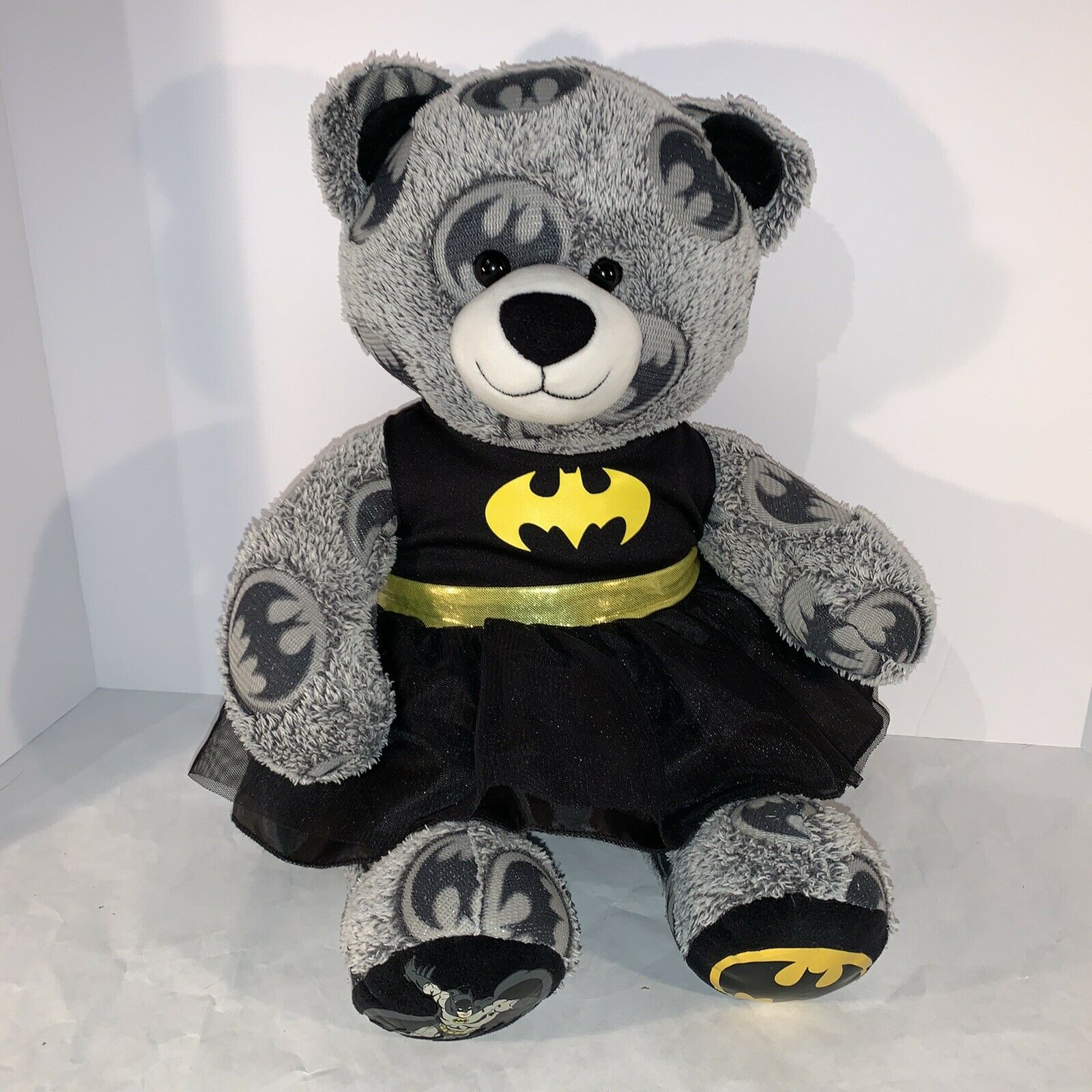 Build-A-Bear DC Comics Batman Bear 18 Retired Plush Batman Logo BABW - $17.95