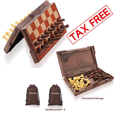 Magnetic Chess Board Game Set Travel Hand Crafted Folding Chessboard Portable - Magnetic Travel Games