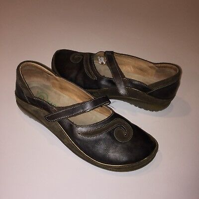 Used, Naot Matai Shoes Size 38 US 7-7.5 Mary Jane Black Pearl Leather Hash Suede for sale  Shipping to Canada