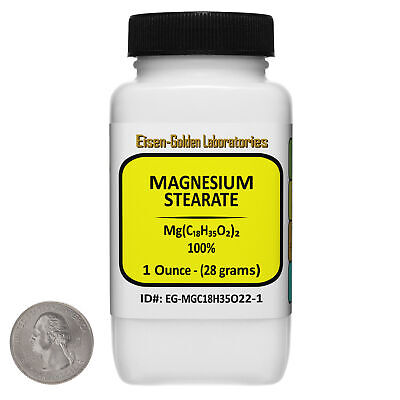 Magnesium Stearate Mgc18h35o22 100 Usp Food Grade Powder 1 Oz In A Bottle