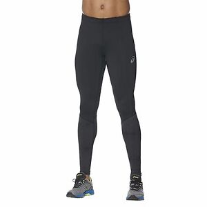 ASICS-RACE-TIGH-Pantaloni-Uomo-aderenti-Running-alta-visibilita-BLACK-141211