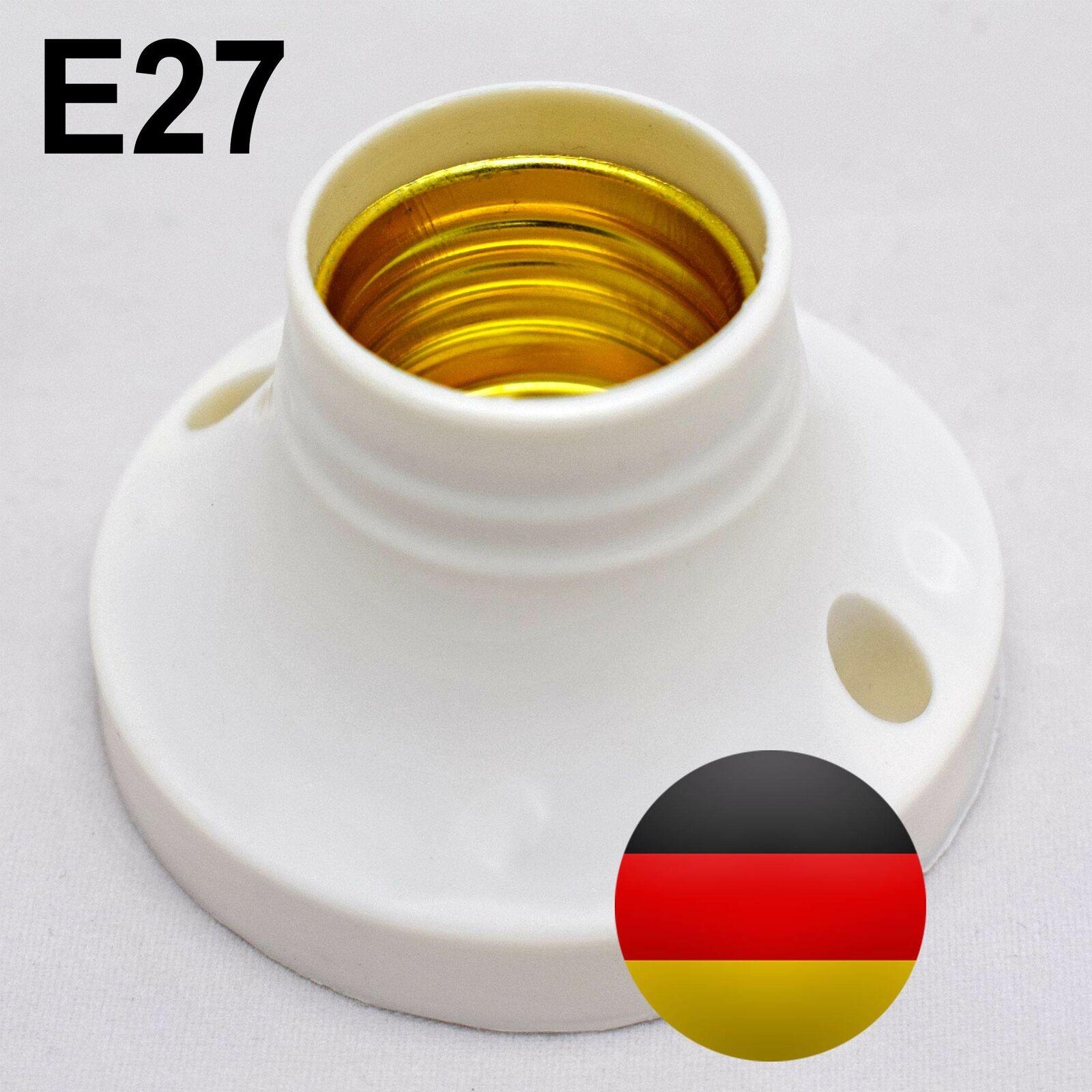 Lampenfassung E27 Keramik Porzellan Hoch Temperatur Fassung Licht