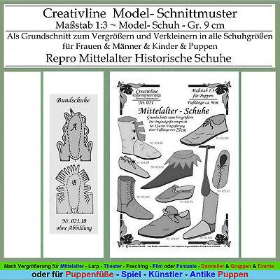 Sammlung 21 - Schnittmuster 1:3 Mittelalter Schuhe
