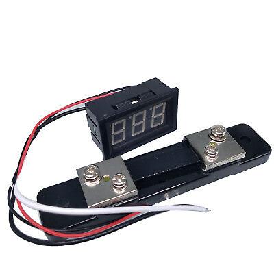 Us Stock Mini Blue Led Digital Panel Amp Meter Gauge 50a Dc Shunt