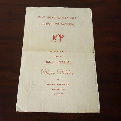 Van Tassel School of Dancing Dance Baldwin NY HS Christmas Recital 1946 Program ()
