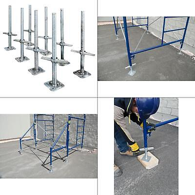 Adjustable 24 In. Steel Leveling Scaffolding Screw Jack With Base Plate 8-pack