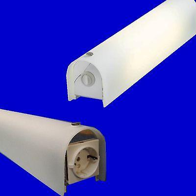 Leuchtstoff Bad-leuchten (Spiegelleuchte Badleuchte Badlampe Glasleuchte + Leuchtstoffröhre 8W EVG)