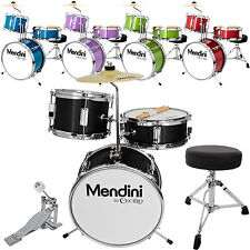 Mendini 13 3-Pieces Junior Kids Child Drum Set Kit ~Black Blue Green Purple Red