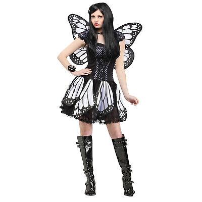 Adult Women's Dark Gothic Black Monarch Butterfly Halloween Costume Dress Wings ](Monarch Butterfly Costume Women)