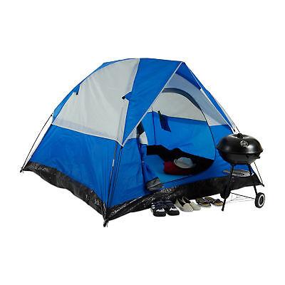 - Kuppel (Campingzelt 3-Mann Kuppelzelt Trekkingzelt Outdoor blau 2x2m Personenzelt)