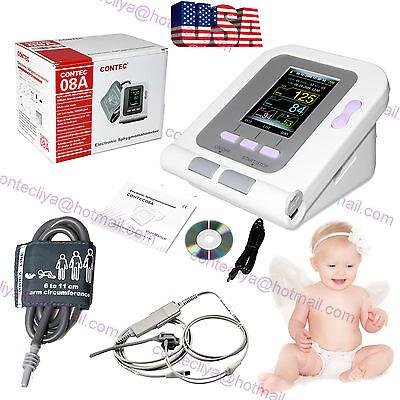 Neonatepediatric Digital Blood Pressure Monitor Contec08aspo2pc Softwareusa