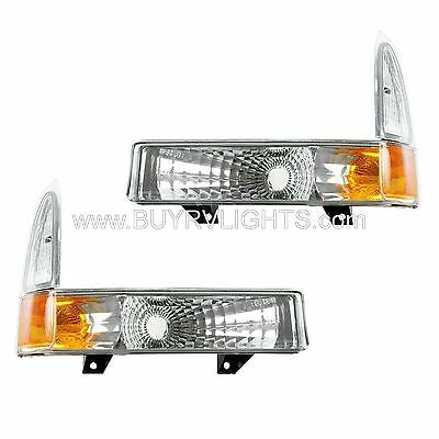 TIFFIN ZEPHYR 2000 2001 2002 PAIR DIAMOND CLEAR LIGHTS TURN SIGNAL CORNER LAMPS